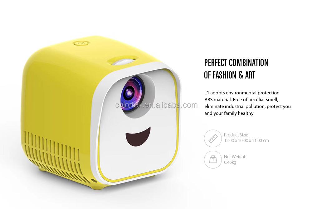 Neue Mini Projektor USB Kinder Tragbare Projektor 1000 Lumen Micro Video Projektor 320x240p Für Familie für Laptop PC TV