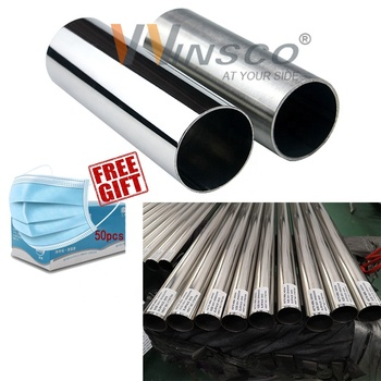 Foshan Inox Manufacturer quality guarantee 2 4 6 8 18 inch 201 316l 304 Tig Welded stainless Steel Pipe Price Per Kg