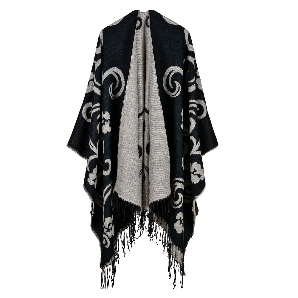 Promotion Fashion Lady Long Pashmina Scarves  Winter Warm Jacquard Scarves  Shawl with Tassel
