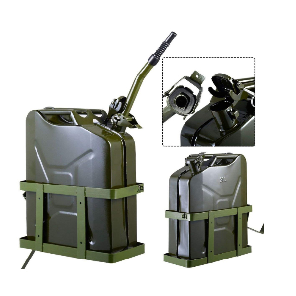 5 Gallon 20 liter 20l Gas Diesel Fuel nato military tank steel metal jerry can holder