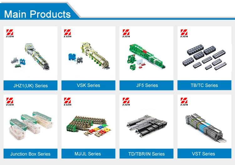 ZHIHUA Hot sale high quality din rail terminal block VSK2.5EN(SAK2.5EN)  Electrical Screw Terminal Block Connector