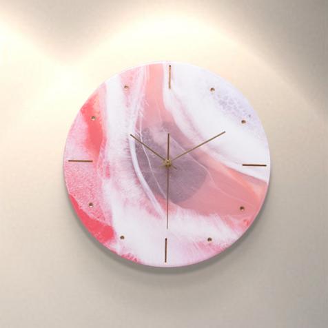 מופשט בעבודת יד שמן ציור שעון קישוט ציור עבור בית