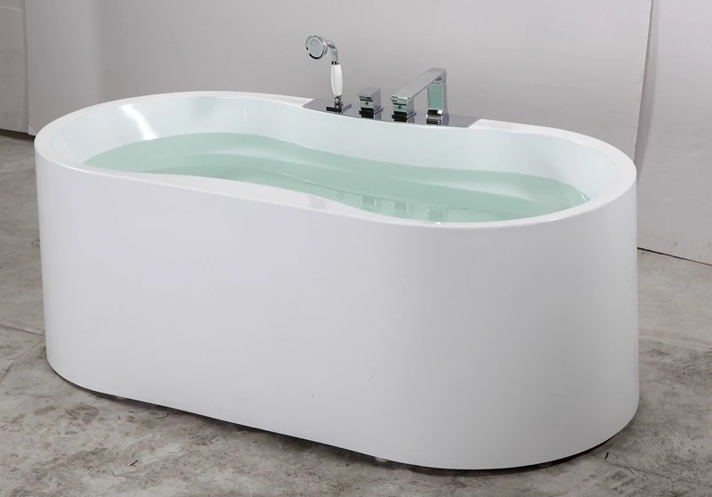 Fashion design hotel indoor adult with air jet free standing bathtub low price