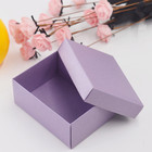Purple Cardboard Packaging Box Gift Box With Lid For Jewelry Craft Handmade Soap Gift small carton box