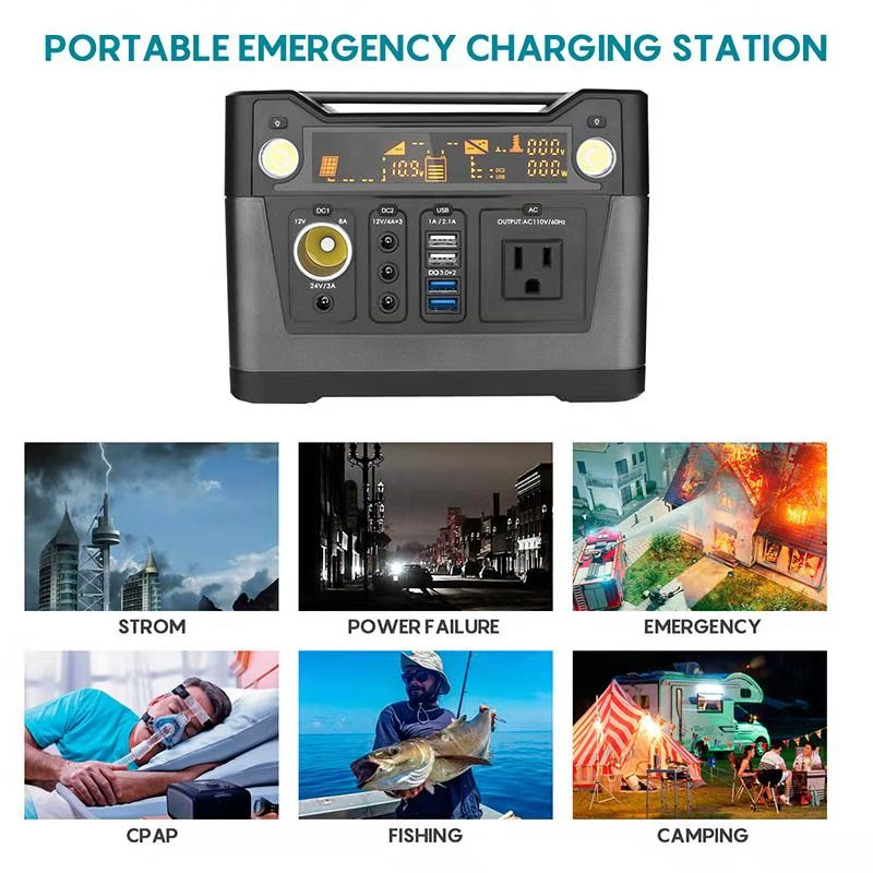 300W Solar optional 110 v/220 v outdoor tragbare power pack CPAP notfall elektrische generatoren tragbare power station