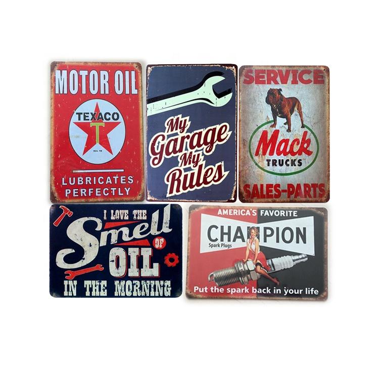 Affiche vintage en étain, vente en gros, affiche de voitures de route et de garage, rétro, plaque en métal antique, 20x30
