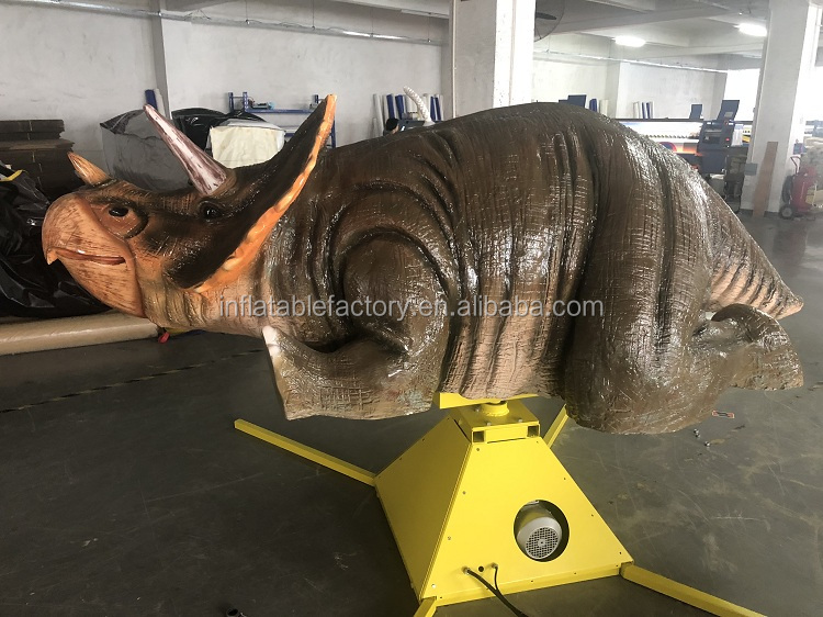 Popular sport game inflatable rhinoceros riding machine