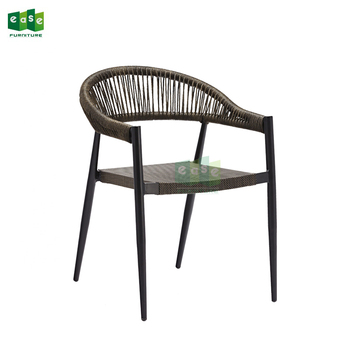 EASE outdoor sling fabric bistro dining chair for cafe restaurant (E7071A)