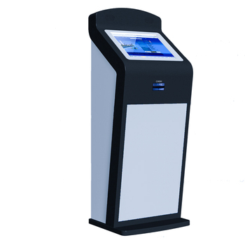 Free Standing air port Flight Boading Touch screen payment kiosk with ID Reader Passport Reader