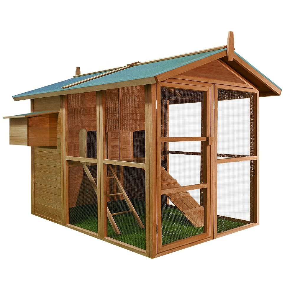 Chinese cheap extra large easy clean cheap outdoor wooden egg laying chicken coop