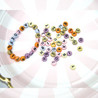 Wholesale Letter Beads Bracelet Beads Letter 4*7mm Colorful Fashion Letter Beads