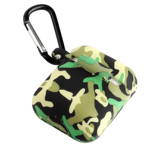 Camouflage Earphone Cover Army Green Soft ShockProof Protective Silicone Earphone Case For Airpods 1&2