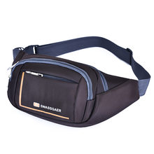 Мужская Женская модная поясная сумка, простая поясная сумка для отдыха, спортивная Фитнес поясная сумка с буквенным принтом, сумка через пл...(Китай)
