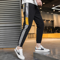 2020 New Men's Stripe Autumn Casual Trousers Straight Pants