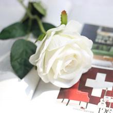 Forever Rose, фланелевая Роза, одна имитация, букет, имитация растений, Флорес, искусственные цветы, цветок, стена для свадьбы(Китай)
