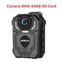 Камера видеонаблюдения Boblov T5 HD 1296P DVR, инфракрасная камера ночного видения, носимая мини-видеокамера, циклическая запись, Полицейская камера(Китай)