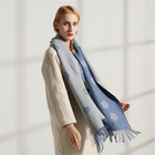 Made Custom Scarves Professional Made Custom Color Knitted Long Women Winter Scarf Double Side Ladies Shawl