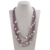 Natural style purple irregular shape ladies amethyst necklace