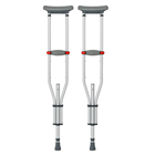 Aluminium Alloy Walking Stick Crutches Adjustable Crutch