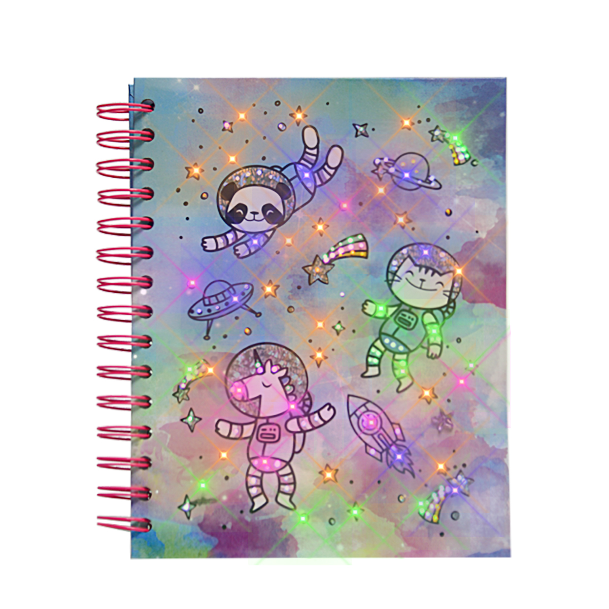Goedkope custom pretty led licht dagboek Pasen journal a4 spiraal notebook voor gift