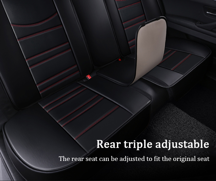 Full Coverage Four Seasons  Luxury PU Leather Seat Covers Car Seat Protector Cover Set