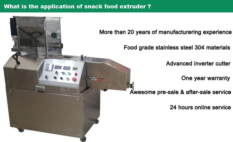 Factory stainless steel 304 puffed corn rice snacks food making machine