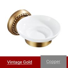 Настенный держатель для мыла для ванной комнаты, античное золото, Ретро стиль, для ванной, для душа, подставка для мыла, круглая мыльница, для...(Китай)