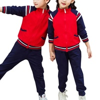 New Spring and Autumn Unisex School Uniform Sports Wear Hoodies and Pants sets for Primary and Kindergarten Boys and Girls