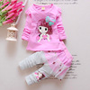 Girls'Autumn Dress Baby Suit Fashion New Spring Baby and Child's Autumn Clothes Two-piece Suit