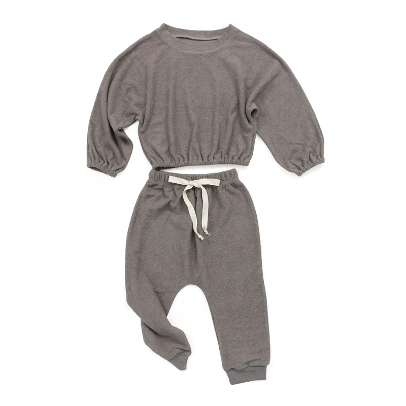 Wholesale clothing baby clothes girls outfits muslin bloomer top set kids clothing
