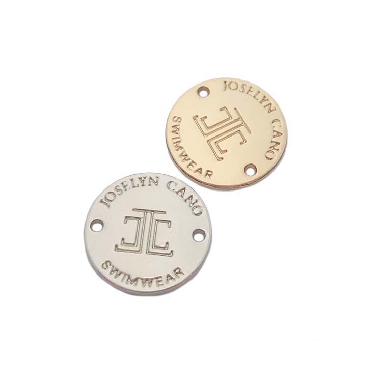 Silver design custom engraveable metal logo tags and label