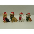 Figurines Decor Figurines Wholesale Price Custom Resin Christmas Decoration Craft Mini Dog Figurines Set