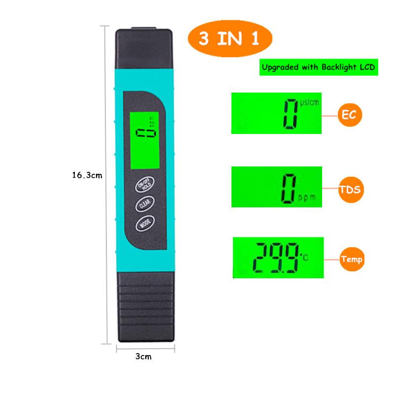 Цифровой измеритель PH TDS EC Тестер термометр ручка Чистота воды PPM фильтр гидропоники для Аквариума Бассейн Воды Монитор Скидка 40%(Китай)