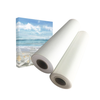 Printable Blank Cotton Canvas For Plotter, 360gsm Digital Inkjet Printing PolyCotton Canvas Roll