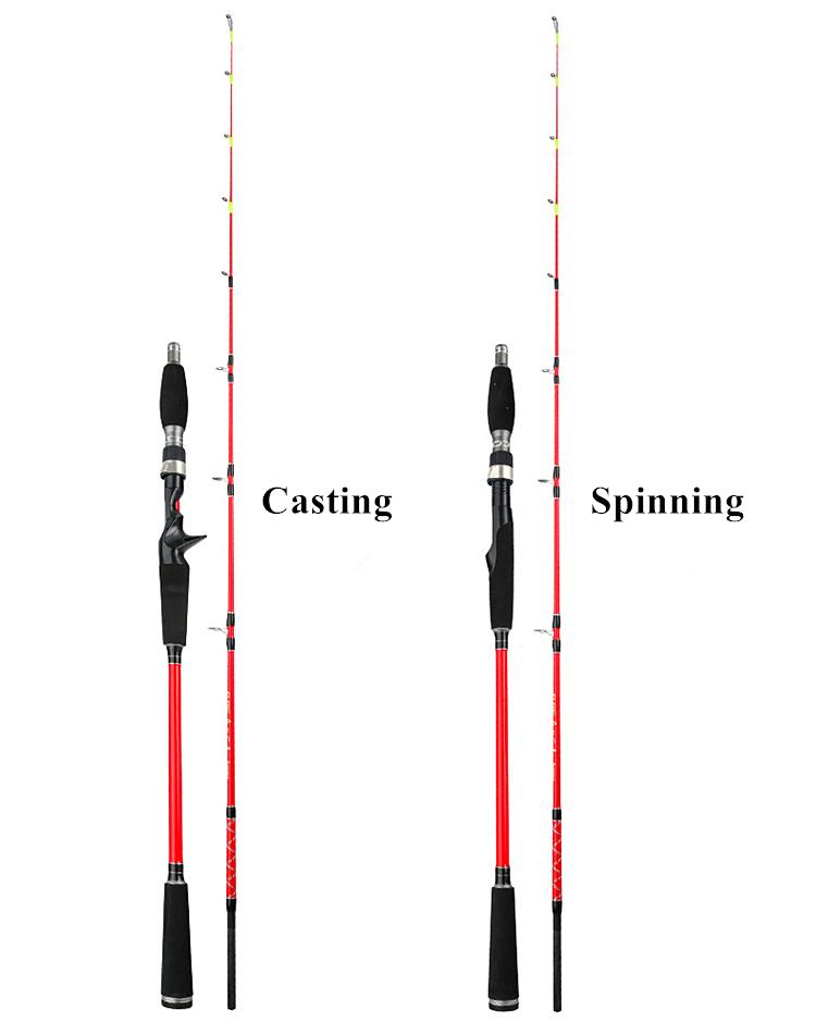 23 Sections en fibre de carbone Spinning Moulage Canne à
