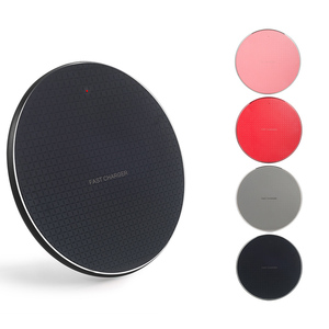 Qi Wireless Charger Charging Pad, High Power Round Qi Wireless Charger Base