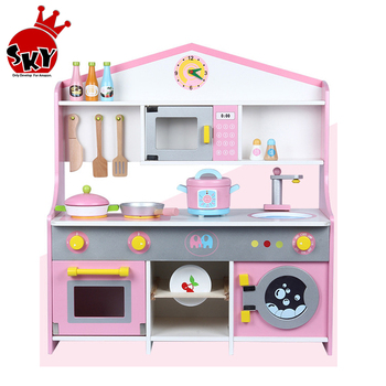 Baby Japanese Style Kitchen Wooden Home Cooking Table Children Simulation Kitchen Toys Set Pretend Play For Kids