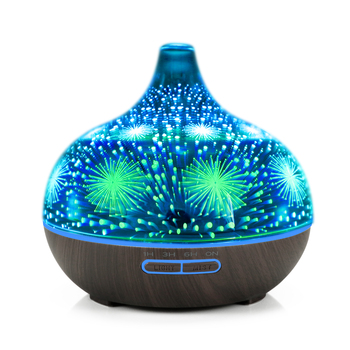 decorative large electric room ultrasonic oil fragrance 3d aroma 400ml diffuser humidifier