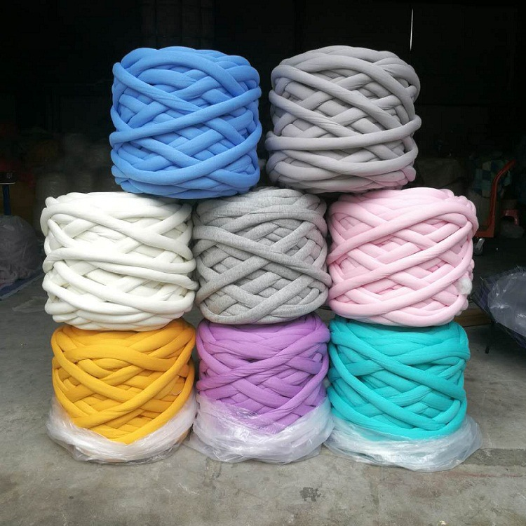Chunky Cotton tube yarn hand Knitting super giant seamless polyester filling yarn