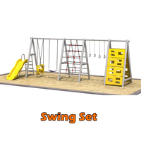 New Product Portable School Garden Child Toy Big Swing Set for Kids