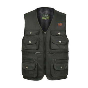 high quality oem embroidery sleeveless hunting shooting hiking multi pocket men's casual photographer vest jacket