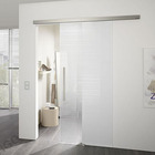 Aluminium Aluminium Alloy Frameless Brushed Glass Shower Sliding Barn Door Hardware Track Kit