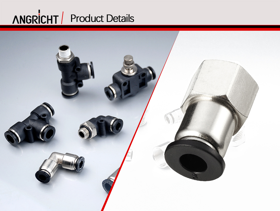 PCF quick connect pneumatic pipe fitting,one touch pneumatic hose fitting