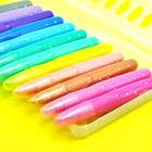 Logo Customization Twistable Crayon Super Water-soluble Twistable Bright Color Metallic Gel Crayon in PP BOX