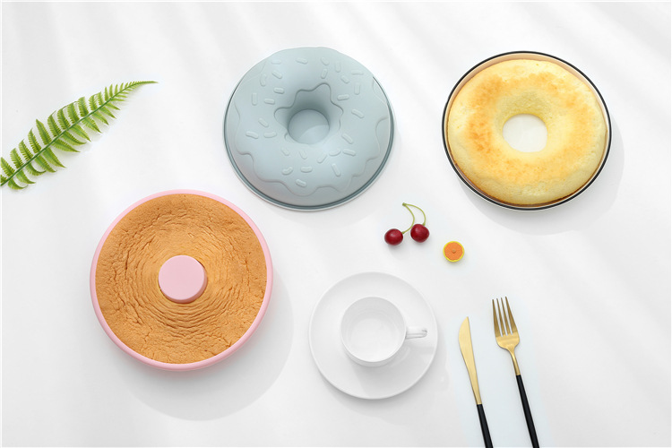 8 inch donut silicone cake pan baking soap jelly muffin mould pastry bakeware tools