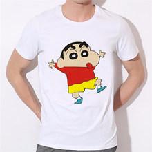 Мужская футболка в японском стиле shin-chan, белая футболка-топ для больших мальчиков, брендовая одежда(Китай)
