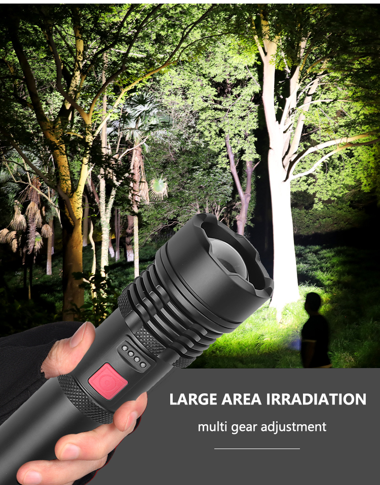 Drop Shipping xhp50.2 most powerful flashlight 5 Modes usb Zoom led torch xhp50 18650 or 26650 battery Best Camping, Outdoor