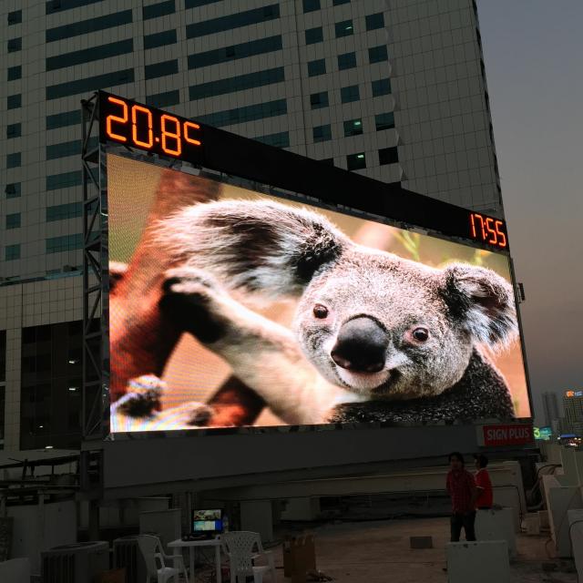 SMD3535 32* 16 Dot matrix p10 rgb led display module / led display panel