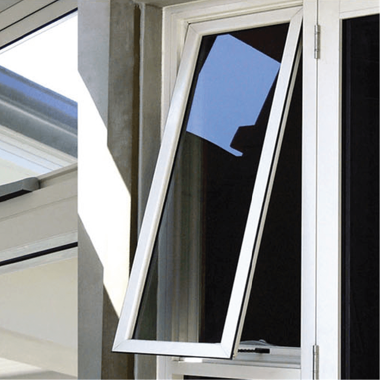 FL100 powder coating commercial Aluminum awning window with AS2047 AS1288 AS2088