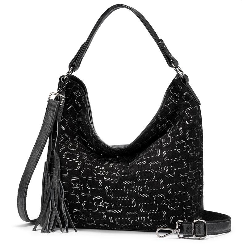 Женская сумка REALER, большая сумка-тоут из натуральной кожи для женщин, классическая сумка-хобо, роскошные женские сумки через плечо с кисточк...(Китай)